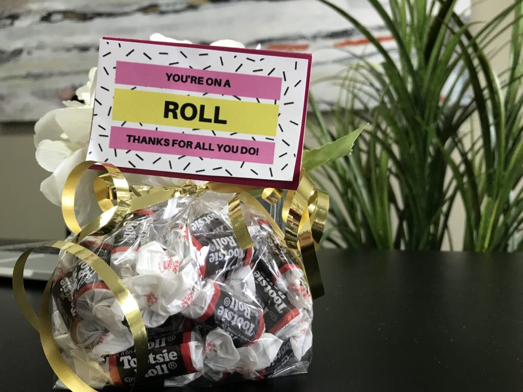 Employee Appreciation Gift Ideas - You're on a Roll!