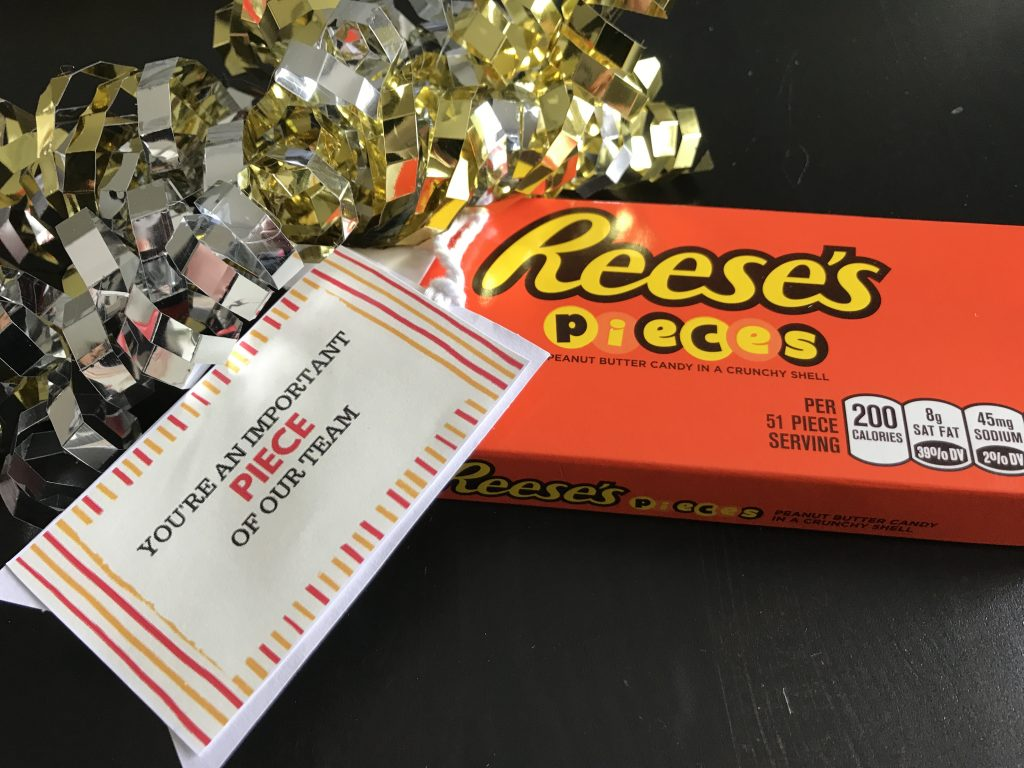 Employee Appreciation Gift Ideas - Reese's Pieces